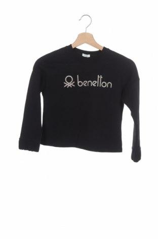 Παιδική μπλούζα United Colors Of Benetton, Μέγεθος 7-8y/ 128-134 εκ., Χρώμα Μαύρο, Βαμβάκι, Τιμή 8,42€