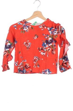 Παιδική μπλούζα United Colors Of Benetton, Μέγεθος 4-5y/ 110-116 εκ., Χρώμα Πορτοκαλί, Βισκόζη, Τιμή 15,14€
