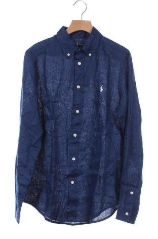 Παιδικό πουκάμισο Ralph Lauren, Μέγεθος 15-18y/ 170-176 εκ., Χρώμα Μπλέ, 100% λινό, Τιμή 35,72€
