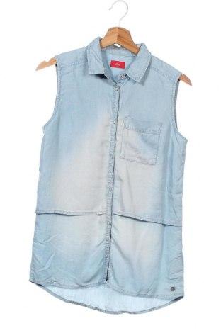 Παιδικό πουκάμισο S.Oliver, Μέγεθος 13-14y/ 164-168 εκ., Χρώμα Μπλέ, Lyocell, Τιμή 19,10€