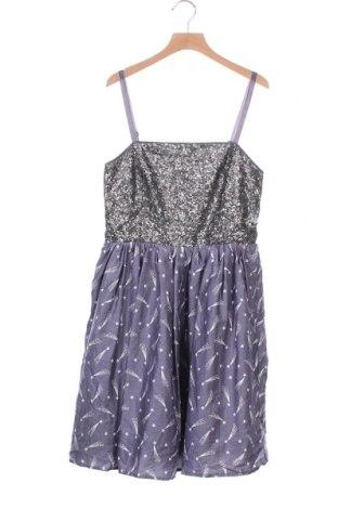 Детска рокля, Размер 13-14y/ 164-168 см, Цвят Лилав, Полиестер, памук, Цена 7,35лв.