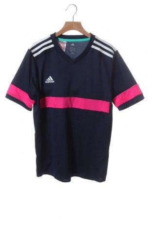 Παιδικό μπλουζάκι Adidas, Μέγεθος 13-14y/ 164-168 εκ., Χρώμα Μπλέ, Πολυεστέρας, Τιμή 5,91€