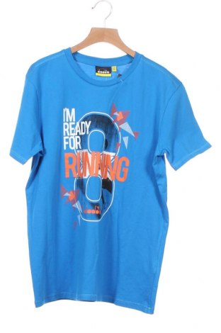 Παιδικό μπλουζάκι Diadora, Μέγεθος 13-14y/ 164-168 εκ., Χρώμα Μπλέ, Βαμβάκι, Τιμή 10,52€