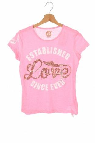 Παιδικό μπλουζάκι KappAhl, Μέγεθος 12-13y/ 158-164 εκ., Χρώμα Ρόζ , 65% πολυεστέρας, 35% βαμβάκι, Τιμή 11,82€
