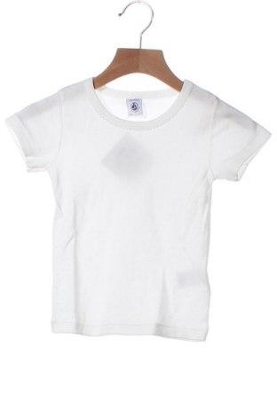 Παιδικό μπλουζάκι Petit Bateau, Μέγεθος 12-18m/ 80-86 εκ., Χρώμα Λευκό, Βαμβάκι, Τιμή 7,82€