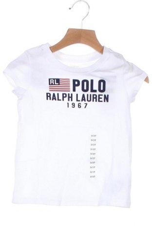 Παιδικό μπλουζάκι Polo By Ralph Lauren, Μέγεθος 2-3y/ 98-104 εκ., Χρώμα Λευκό, Βαμβάκι, Τιμή 25,65€