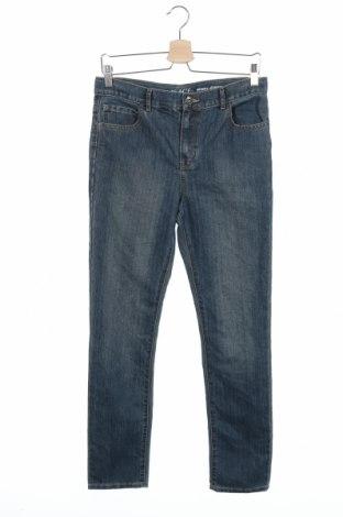 Детски дънки, Размер 15-18y/ 170-176 см, Цвят Син, 66% памук, 34% полиестер, Цена 11,07лв.