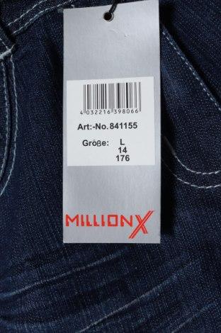 Παιδικά τζίν Million X, Μέγεθος 15-18y/ 170-176 εκ., Χρώμα Μπλέ, 70% βαμβάκι, 28% πολυεστέρας, 2% ελαστάνη, Τιμή 11,56€