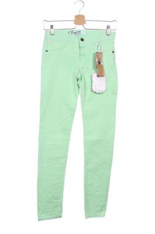 Dětské džíny  Vingino, Velikost 11-12y/ 152-158 cm, Barva Zelená, Bavlna, polyester, elastan, Cena  160,00Kč