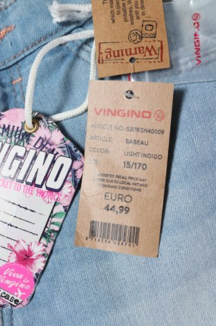 Παιδικά τζίν Vingino, Μέγεθος 14-15y/ 168-170 εκ., Χρώμα Μπλέ, 98% βαμβάκι, 2% ελαστάνη, Τιμή 10,67€