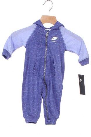 Παιδική σαλοπέτα Nike, Μέγεθος 2-3m/ 56-62 εκ., Χρώμα Μπλέ, 95% πολυεστέρας, 5% βαμβάκι, Τιμή 12,81€