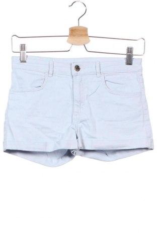 Детски къс панталон H&M, Размер 12-13y/ 158-164 см, Цвят Син, 98% памук, 2% еластан, Цена 6,62лв.