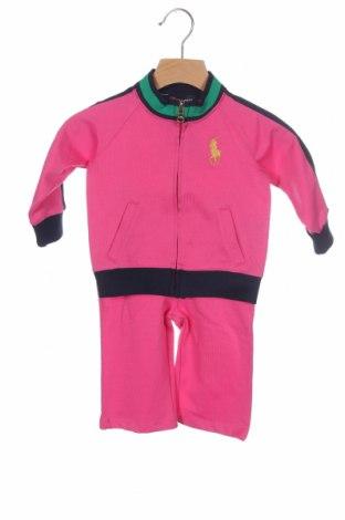 Παιδικό σύνολο Polo By Ralph Lauren, Μέγεθος 9-12m/ 74-80 εκ., Χρώμα Ρόζ , 58% βαμβάκι, 42% πολυεστέρας, Τιμή 41,29€