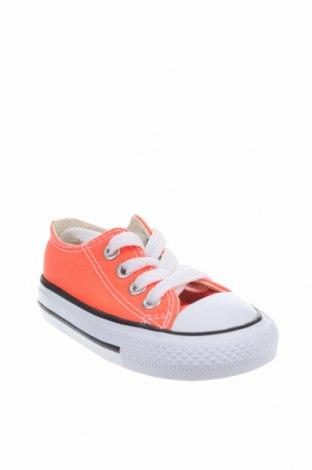 Παιδικά παπούτσια Converse, Μέγεθος 19, Χρώμα Πορτοκαλί, Κλωστοϋφαντουργικά προϊόντα, Τιμή 12,22€