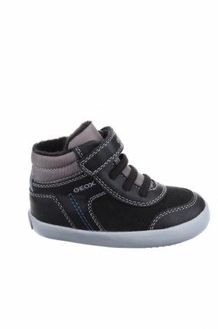 Παιδικά παπούτσια Geox, Μέγεθος 22, Χρώμα Μαύρο, Δερματίνη, κλωστοϋφαντουργικά προϊόντα, Τιμή 15,73€