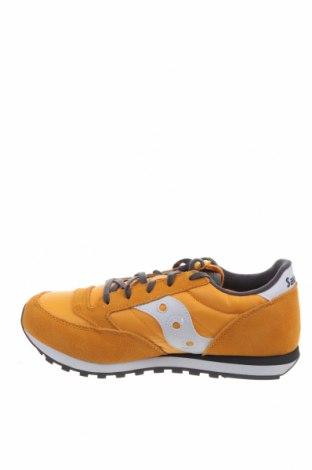 Παιδικά παπούτσια Saucony, Μέγεθος 38, Χρώμα Κίτρινο, Φυσικό σουέτ, κλωστοϋφαντουργικά προϊόντα, Τιμή 28,69€