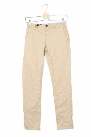 Παιδικό παντελόνι Massimo Dutti, Μέγεθος 11-12y/ 152-158 εκ., Χρώμα  Μπέζ, 97% βαμβάκι, 3% ελαστάνη, Τιμή 13,52€