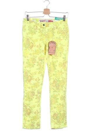 Παιδικό παντελόνι Million X, Μέγεθος 12-13y/ 158-164 εκ., Χρώμα Κίτρινο, 98% βαμβάκι, 2% ελαστάνη, Τιμή 10,04€