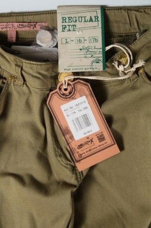 Παιδικό παντελόνι Million X, Μέγεθος 15-18y/ 170-176 εκ., Χρώμα Πράσινο, 98% βαμβάκι, 2% ελαστάνη, Τιμή 11,74€