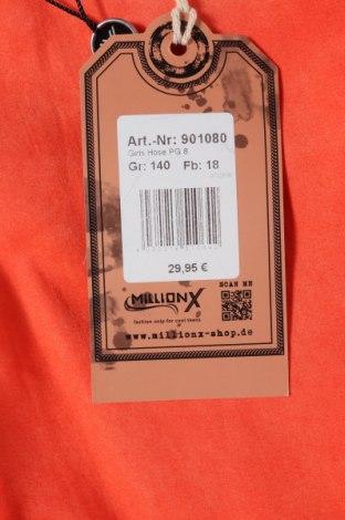 Παιδικό παντελόνι Million X, Μέγεθος 9-10y/ 140-146 εκ., Χρώμα Πορτοκαλί, 98% βαμβάκι, 2% ελαστάνη, Τιμή 10,04€