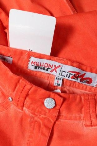 Παιδικό παντελόνι Million X, Μέγεθος 7-8y/ 128-134 εκ., Χρώμα Πορτοκαλί, 98% βαμβάκι, 2% ελαστάνη, Τιμή 10,64€