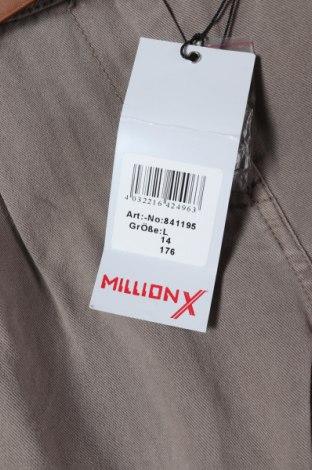 Παιδικό παντελόνι Million X, Μέγεθος 15-18y/ 170-176 εκ., Χρώμα  Μπέζ, Βαμβάκι, Τιμή 11,56€