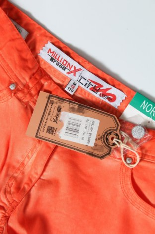 Детски панталон Million X, Размер 14-15y/ 168-170 см, Цвят Оранжев, 98% памук, 2% еластан, Цена 36,75лв.