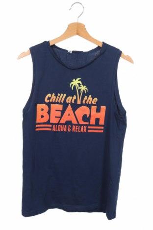Μπλουζάκι αμάνικο παιδικό H&M, Μέγεθος 15-18y/ 170-176 εκ., Χρώμα Μπλέ, Βαμβάκι, Τιμή 7,79€