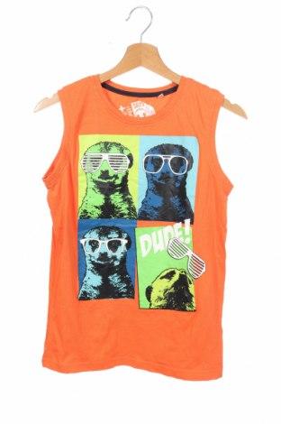 Μπλουζάκι αμάνικο παιδικό Here+There, Μέγεθος 12-13y/ 158-164 εκ., Χρώμα Πορτοκαλί, Βαμβάκι, Τιμή 7,27€