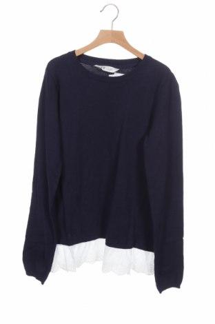 Детски пуловер H&M, Размер 14-15y/ 168-170 см, Цвят Син, Памук, Цена 15,20лв.