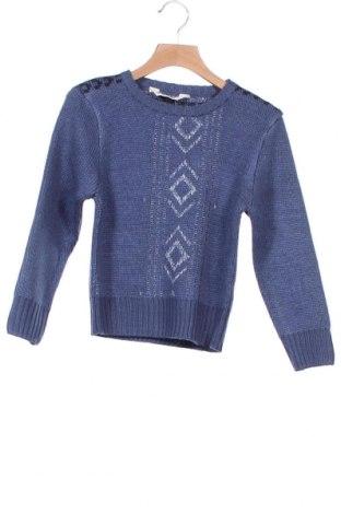 Детски пуловер H&M, Размер 4-5y/ 110-116 см, Цвят Син, 95% акрил, 5% вълна, Цена 10,80лв.