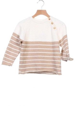 Παιδικό πουλόβερ Zara, Μέγεθος 4-5y/ 110-116 εκ., Χρώμα  Μπέζ, 76% βαμβάκι, 24% πολυεστέρας, Τιμή 10,51€