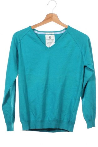 Детски пуловер Zara Knitwear, Размер 10-11y/ 146-152 см, Цвят Зелен, 70% памук, 30% полиамид, Цена 34,81лв.