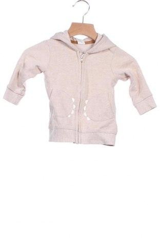 Παιδικό φούτερ H&M, Μέγεθος 6-9m/ 68-74 εκ., Χρώμα  Μπέζ, 78% βαμβάκι, 22% πολυεστέρας, Τιμή 10,10€