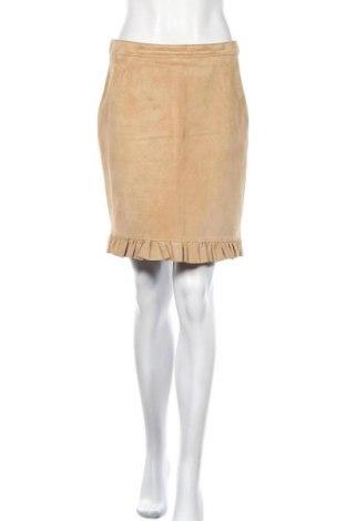 Δερμάτινη φούστα Joy, Μέγεθος M, Χρώμα  Μπέζ, Φυσικό σουέτ, Τιμή 10,91€
