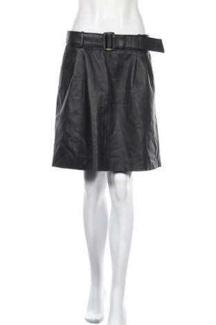 Δερμάτινη φούστα Massimo Dutti, Μέγεθος L, Χρώμα Μαύρο, Γνήσιο δέρμα, Τιμή 62,74€