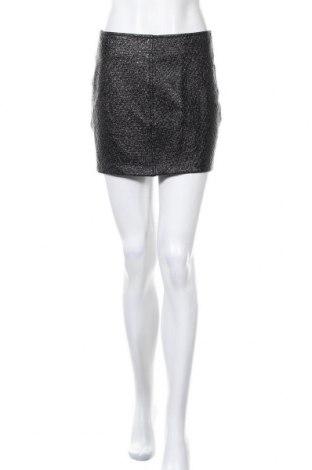 Кожена пола Zara, Размер S, Цвят Черен, Еко кожа, Цена 21,00лв.