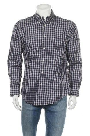 Мъжка риза Brooks Brothers, Размер M, Цвят Син, 100% памук, Цена 22,04лв.