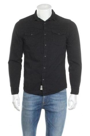 Мъжка риза H&M L.O.G.G., Размер S, Цвят Черен, Памук, Цена 20,16лв.