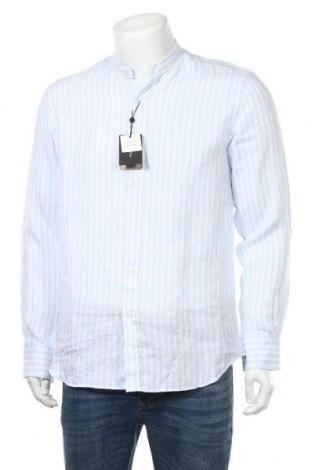Ανδρικό πουκάμισο Massimo Dutti, Μέγεθος L, Χρώμα Μπλέ, Λινό, Τιμή 18,32€