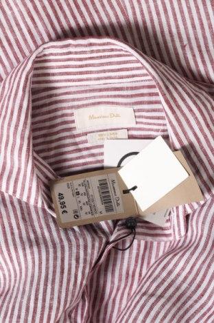 Мъжка риза Massimo Dutti, Размер M, Цвят Червен, Лен, Цена 63,00лв.