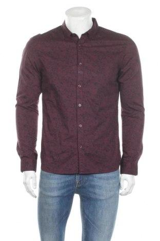 Мъжка риза Teddy Smith, Размер M, Цвят Червен, Памук, Цена 27,60лв.