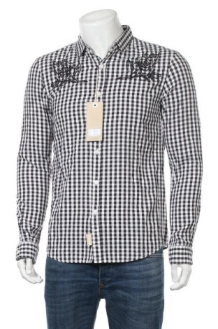 Мъжка риза Tom Tailor, Размер M, Цвят Черен, Памук, Цена 51,75лв.