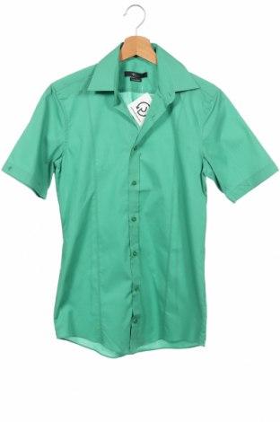Ανδρικό πουκάμισο Venti, Μέγεθος XS, Χρώμα Πράσινο, Βαμβάκι, Τιμή 7,22€