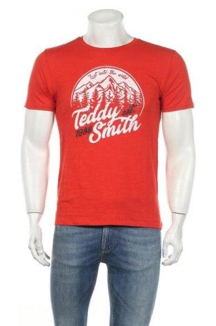 Ανδρικό t-shirt Teddy Smith, Μέγεθος M, Χρώμα Κόκκινο, Βαμβάκι, Τιμή 7,42€