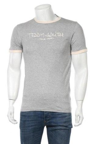 Мъжка тениска Teddy Smith, Размер M, Цвят Сив, 90% памук, 10% вискоза, Цена 15,30лв.