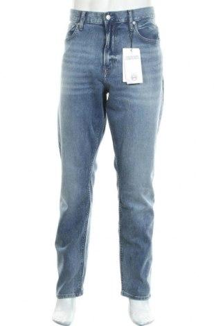 Мъжки дънки Calvin Klein Jeans, Размер XL, Цвят Син, 71% памук, 28% полиестер, 1% еластан, Цена 92,95лв.