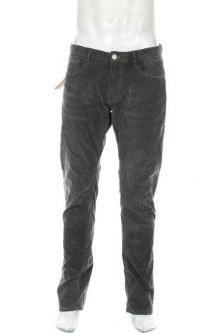 Ανδρικό κοτλέ παντελόνι Massimo Dutti, Μέγεθος L, Χρώμα Γκρί, 98% βαμβάκι, 2% ελαστάνη, Τιμή 20,41€