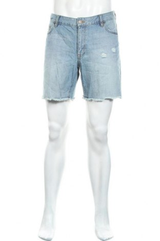 Мъжки къс панталон H&M L.O.G.G., Размер L, Цвят Син, Памук, Цена 12,97лв.
