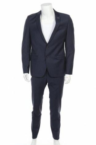 Pánský oblek  Benvenuto, Velikost L, Barva Modrá, 53% polyester, 43% vlna, 4% elastan, Cena  1131,00Kč